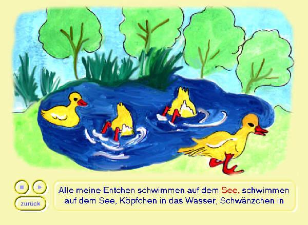 Screenshot vom Programm: Kinderliederbuch Lite
