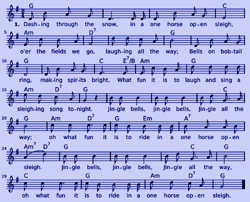 Jingle Bells - Noten