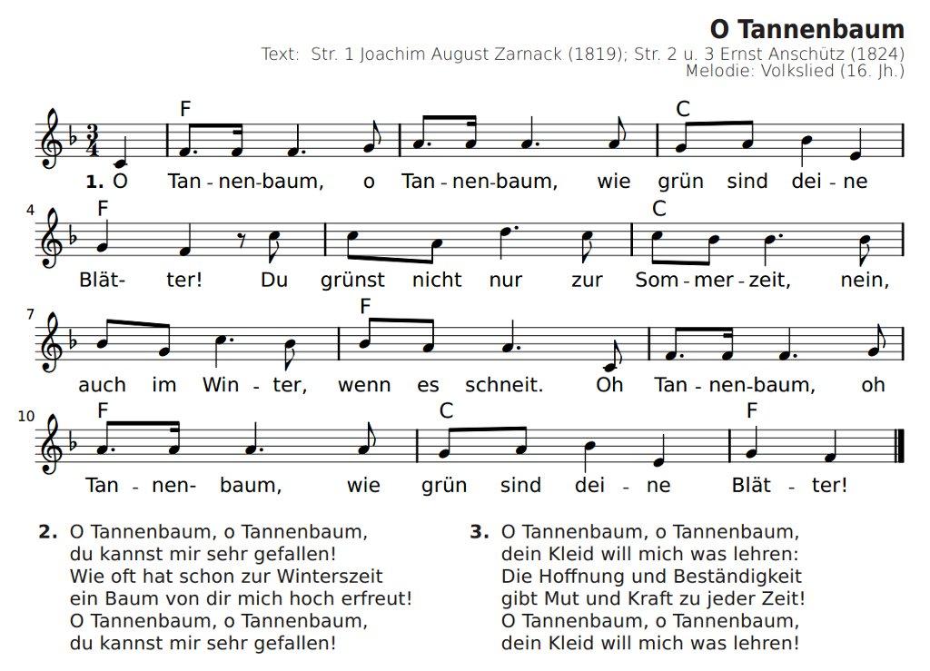 Noten Oh Tannenbaum.Oh Tannenbaum